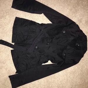 Black Short Trench Coat